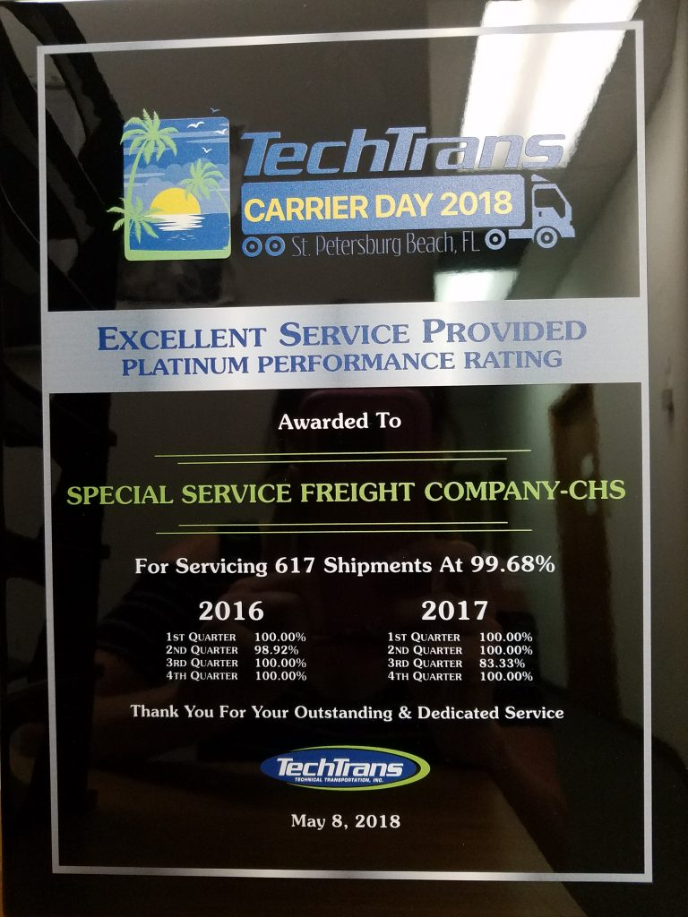 Testimonials - Special Service Freight